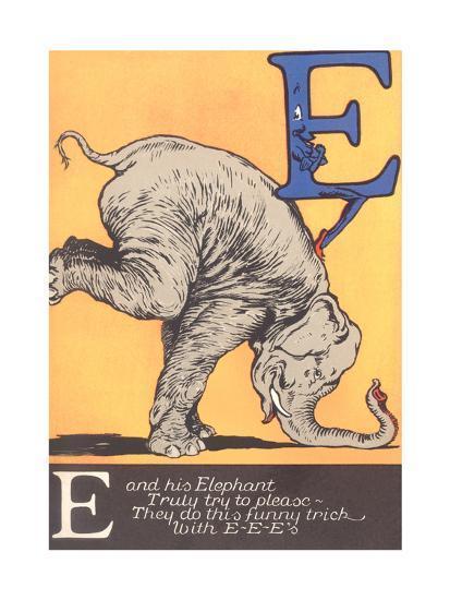 E Is for Elephant--Art Print