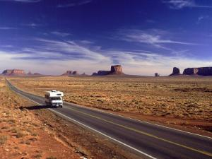 Camper on Highway No.163, Monument Valley, AZ by E. J. West