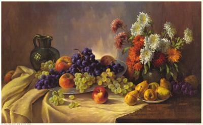 Still Life with Fruit by E. Kruger