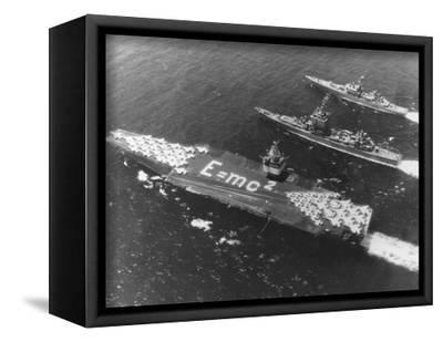 LIMITED EDITION HMS ENTERPRISE HAND FINISHED 25