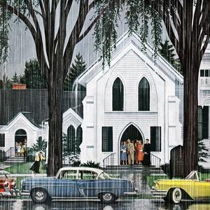"""""""Sunday Rain"""", May 24, 1958 by E^ Melbourne Brindle"""