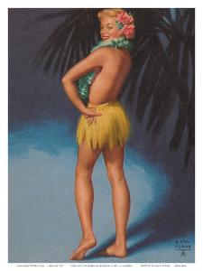 Hula Pin Up Marylin Monroe c.1951 by E. Moran