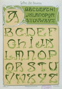 Art Nouveau Alphabet. 1903 by E. Mulier