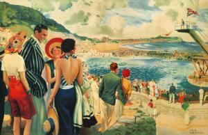 Scarborough, 1928 by E^ Oakdale
