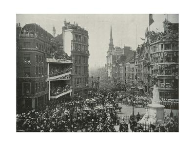 'Her Majesty's Arrival in St. Paul's Churchyard', London, 1897