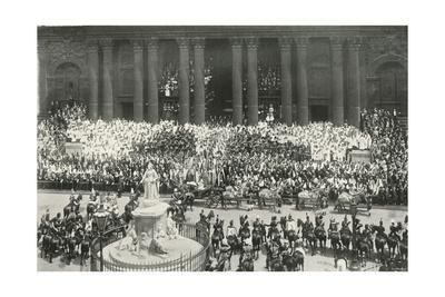 'The Ceremony at St. Paul's', London, 1897