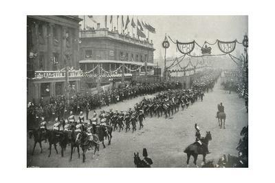 'The Naval Contingent Crossing London Bridge into Southwark', London, 1897