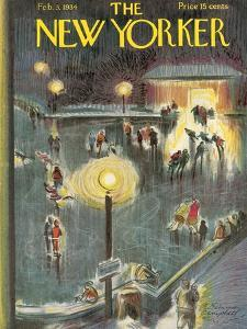 The New Yorker Cover - February 3, 1934 by E. Simms Campbell