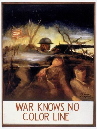 WWII: Color Line Poster
