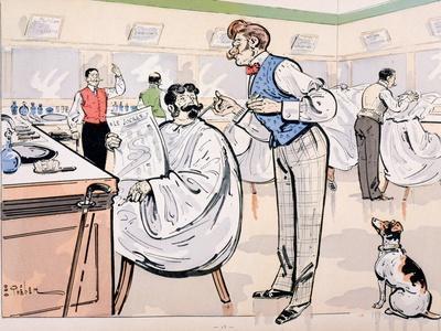 At the Barber and Reading 'Le Jockey', c.1905