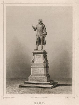 Immanuel Kant German Philosopher: Commemorative Statue in Konigsberg
