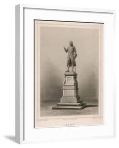 Immanuel Kant German Philosopher: Commemorative Statue in Konigsberg by E. Wagner