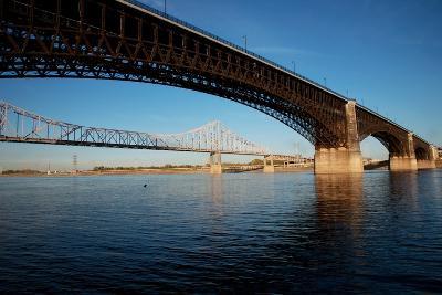 Eads Bridge on the Mississippi River, St. Louis, Missouri-Joseph Sohm-Photographic Print