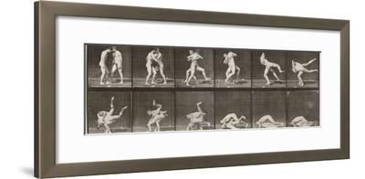 """Album sur la décomposition du mouvement : """"Animal locomotion"""", 1872/85. Lutte de deux hommes nus"""