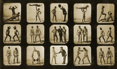 Athletes Posturing, from the 'Animal Locomotion' Series, C.1881