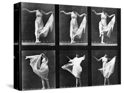 Dancing Woman, Plate 187 from 'Animal Locomotion', 1887 (B/W Photo)