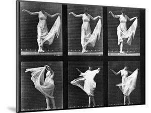 Dancing Woman, Plate 187 from 'Animal Locomotion', 1887 (B/W Photo) by Eadweard Muybridge