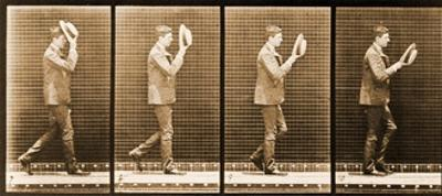 Image Sequence of a Man with a Hat Walking, 'Animal Locomotion' Series, C.1887