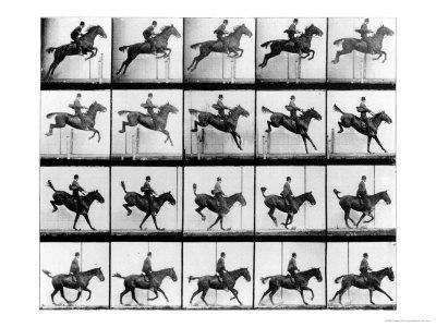 "Man and Horse Jumping, from ""Animals in Motion"", London, Published 1907"