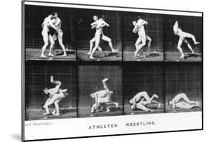 Two Men Wrestling, from 'Animal Locomotion', 1887 by Eadweard Muybridge