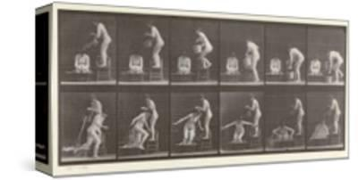 Two Women Bathing, Plate 406 from 'Animal Locomotion', 1887
