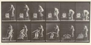 Two Women Bathing, Plate 406 from 'Animal Locomotion', 1887 by Eadweard Muybridge