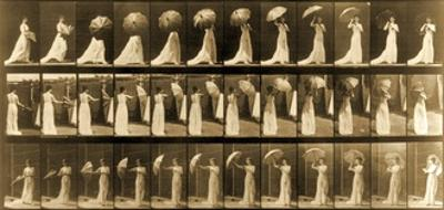 Woman Opening Umbrella from 'Animal Locomotion' Series, C.1887