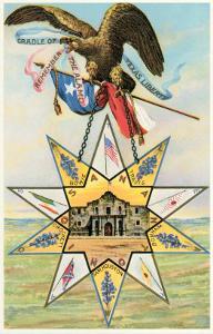 Eagle, Alamo in Star, Texas Liberty