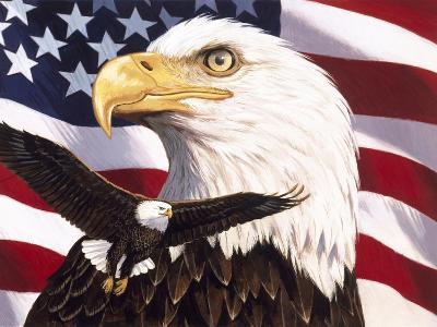 Eagle and Flag-William Vanderdasson-Giclee Print