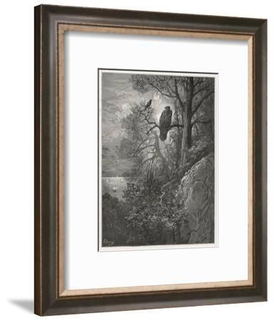 Eagle and Magpie--Framed Giclee Print