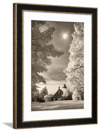 Eagle Bluff Lighthouse #2, Door County, Wisconsin '12 (with sunburst)-Monte Nagler-Framed Photographic Print