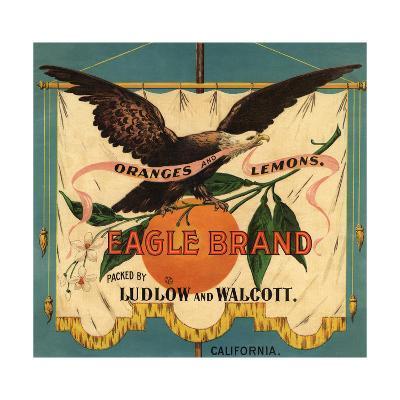 Eagle Brand - California - Citrus Crate Label-Lantern Press-Art Print