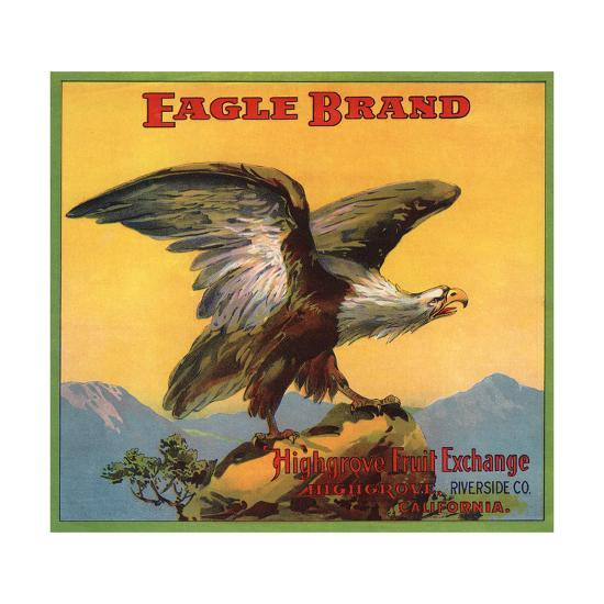 Eagle Brand - Highgrove, California - Citrus Crate Label-Lantern Press-Art Print