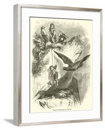 Eagle Defending Her Brood--Framed Giclee Print