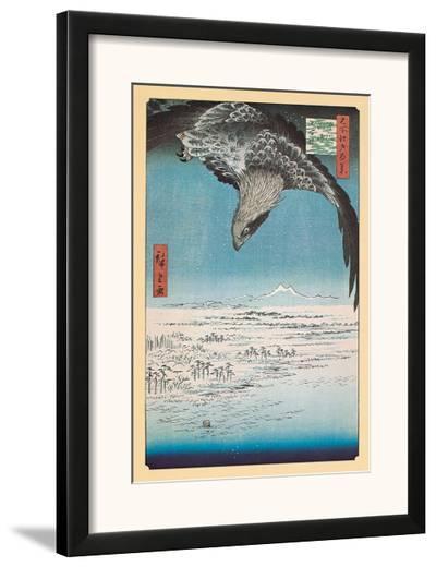 Eagle Flying over the Fukagama District-Ando Hiroshige-Framed Art Print