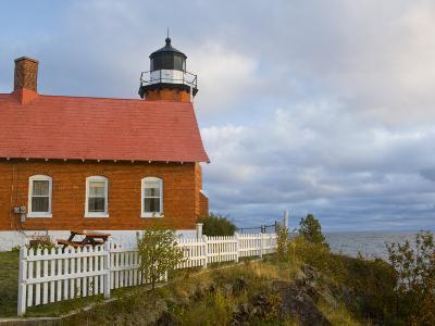 Eagle Harbor lighthouse on Lake Superior, Michigan, USA-Chuck Haney-Photographic Print