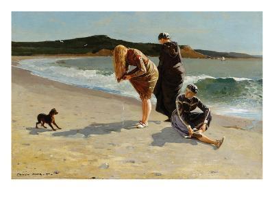 Eagle Head, Manchester, Massachusetts at High Tide-Winslow Homer-Art Print