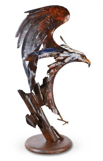 Eagle in Motion Sculpture--Home Accessories