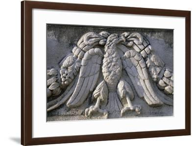 Eagle, Relief from a Roman Sarcophagus, Roman Odeon, Patras, Greece--Framed Giclee Print