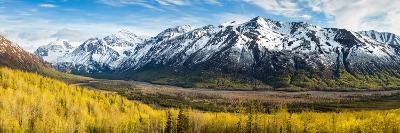 Eagle River Valley with Hurdygurdy Mountain in the background, Chugach National Park, Alaska, USA--Photographic Print