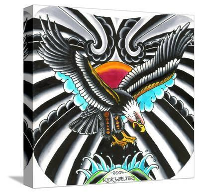 Eagle-Rick Walters-Stretched Canvas Print