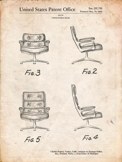 Eames Upholstered Chair Patent-Cole Borders-Art Print
