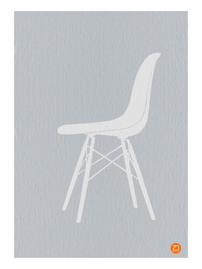 Eames White Chair-NaxArt-Art Print