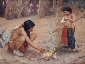 The Campfire by Eanger Irving Couse