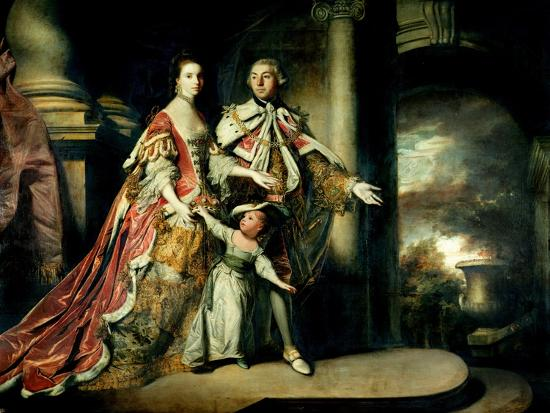 Earl and Countess of Mexborough, with their Son Lord Pollington, 1761-64-Sir Joshua Reynolds-Giclee Print