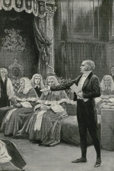 Earl Grey Appeals to the Bench of Bishops to Pass the Reform Bill-William Henry Margetson-Giclee Print