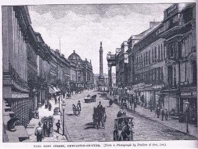 Earl Grey Street, Newcastle Upon Tyne--Giclee Print