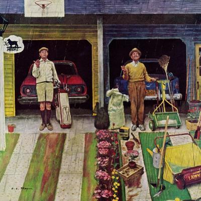 """Saturday Rain"", April 25, 1959 by Earl Mayan"