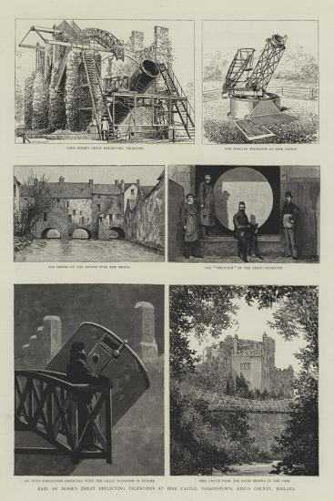 Earl of Rosse's Great Reflecting Telescopes at Birr Castle, Parsonstown, King's County, Ireland--Giclee Print