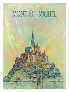 Mont St. Michel Island - Normandy, France by Earl Thollander